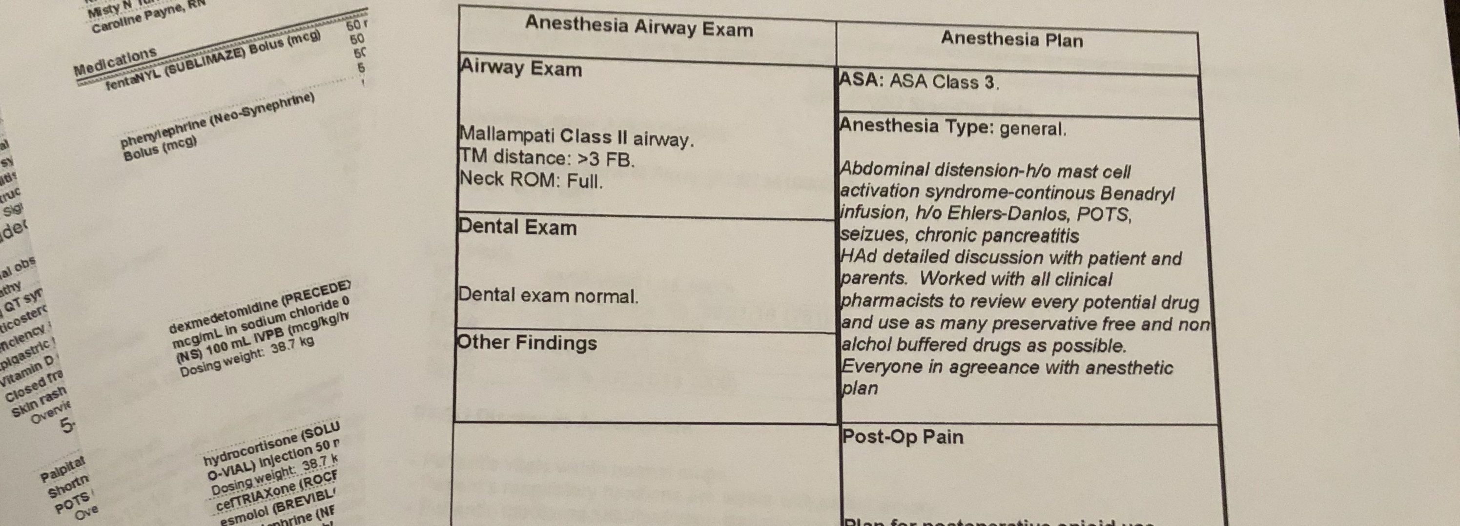 My Safe Anesthesia Protocol For Mast Cell Activation Disorder